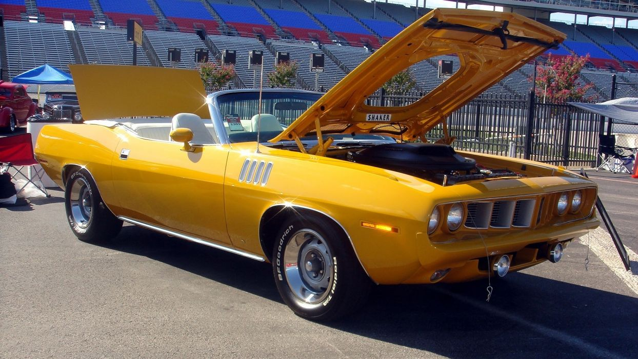 plymouth barracuda classic muscle cars wallpaper