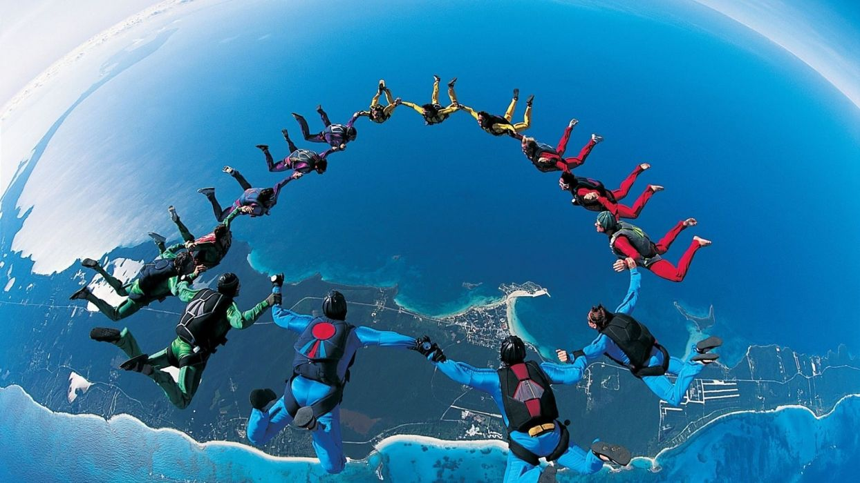 sports skydiving extreme sports parachute 1920x1080 wallpaper sports