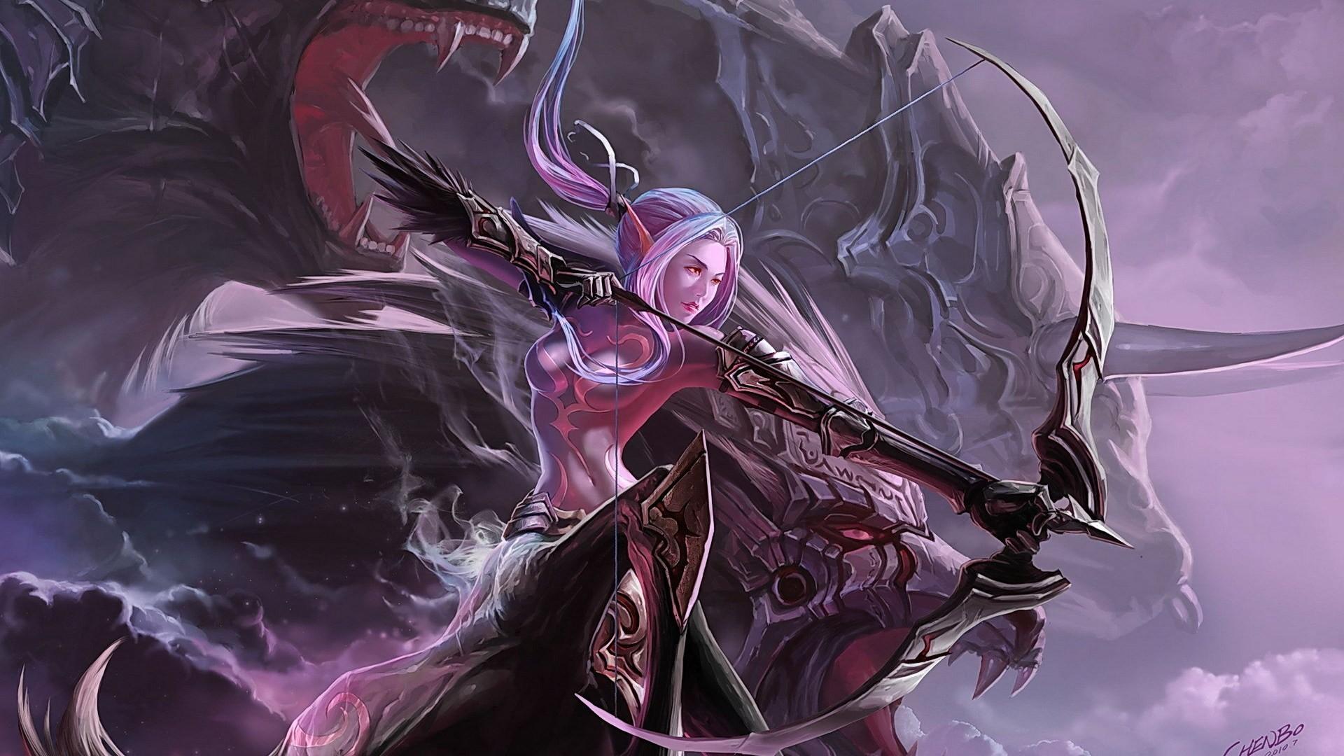 Fantasy female archer pity