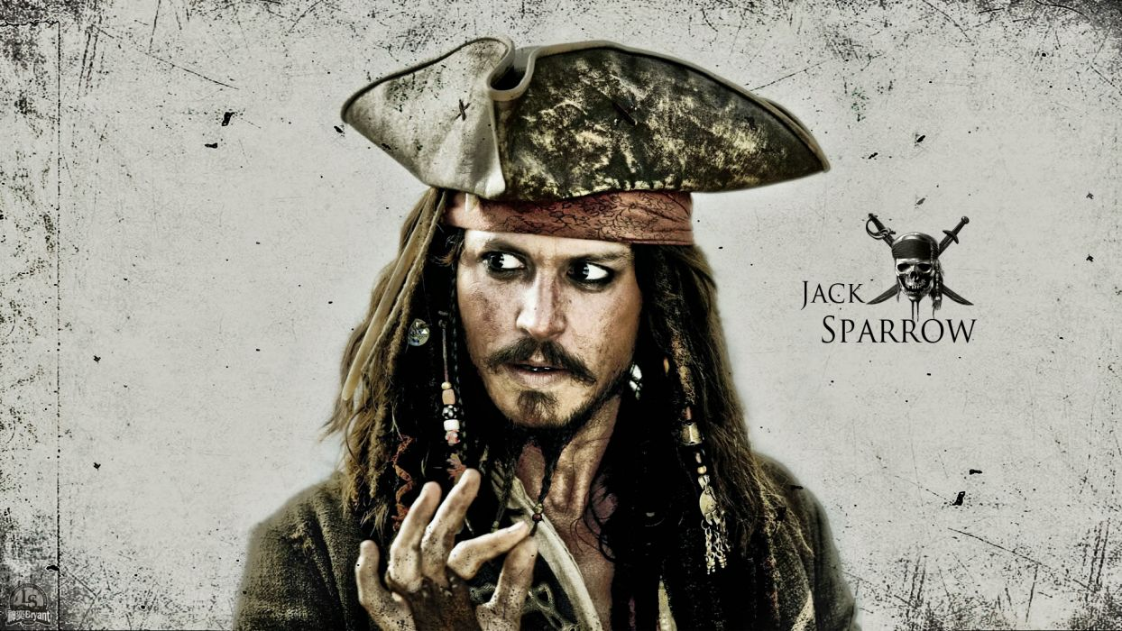 Pirates of the Caribbean Jack Sparrow Pirate Johnny Depp wallpaper