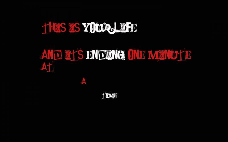 dark horror time red quote wallpaper
