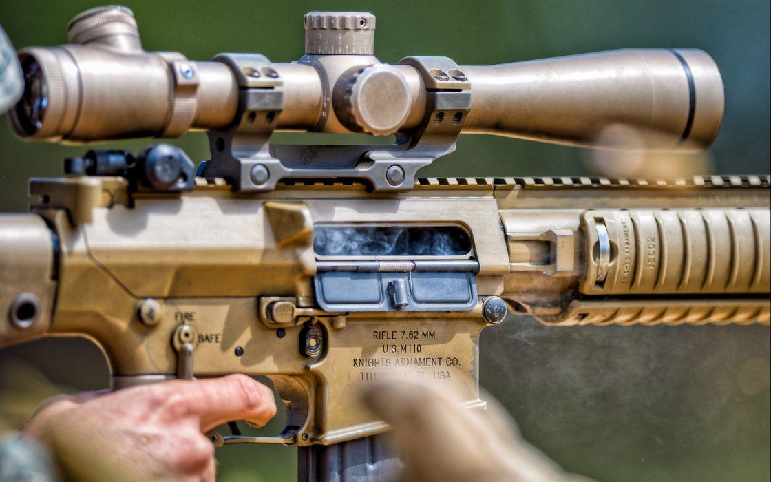 military weapons guns assault rifles scope sniper people wallpaper
