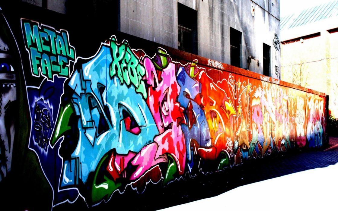 graffiti urban art paint buildings wallpaper