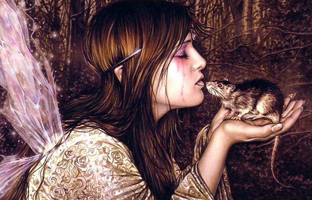 victoria frances dark horror gothic fairy art angels wallpaper