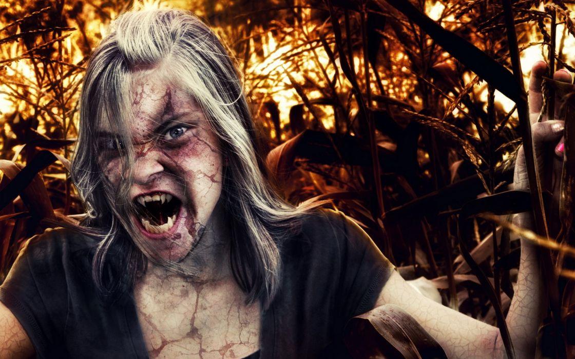 dark horror vampire fantasy women wallpaper