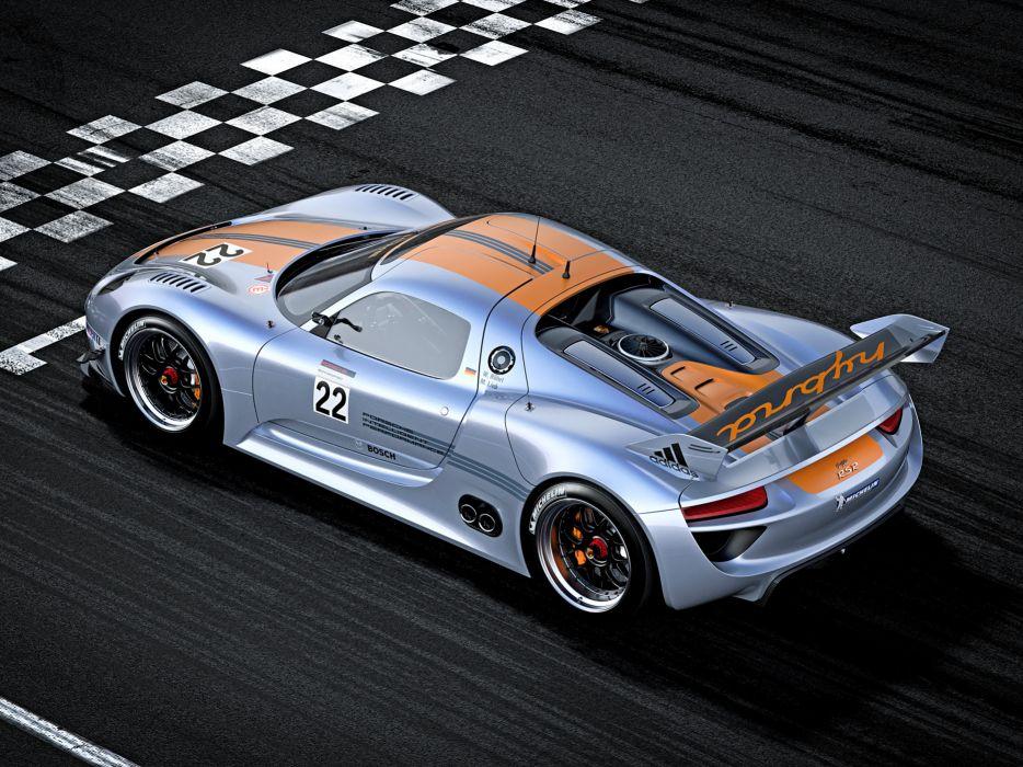 Porsche 918 RSR Hybrid racing race car track wallpaper