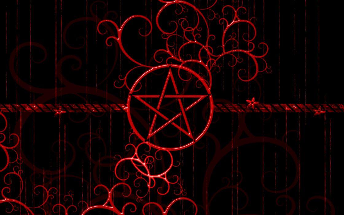 Dark Horror Evil Symbol Satan Penta Star Wallpaper 1920x1200