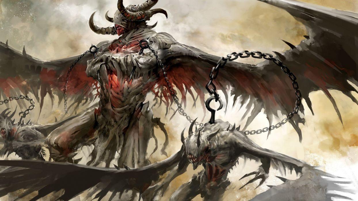 Guild Wars 2 Concept Art Dark Horror Fantasy Demon Monster