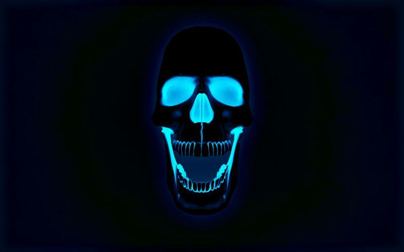 dark horror skull evil wallpaper