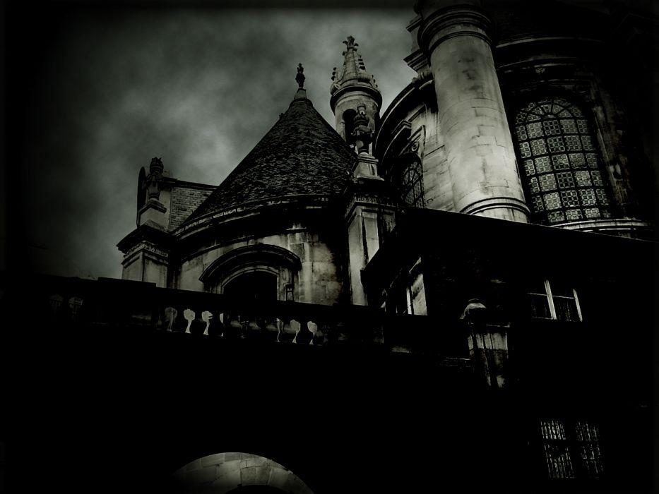 Dark Horror Gothic Haunted Castle Buildings Wallpaper
