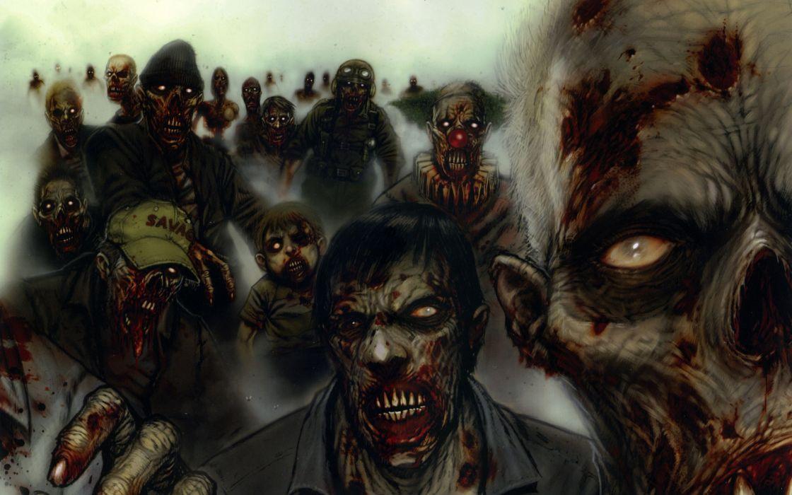 dark horror gore blood zombie monster wallpaper