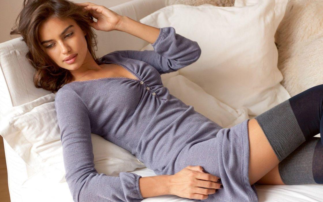 irina shayk sheik women model brunette fashion babes sexy wallpaper