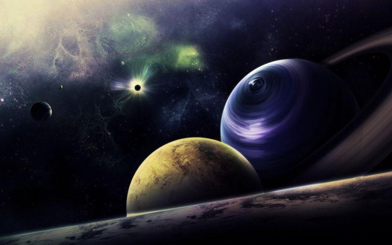 sci fi planets stars wallpaper