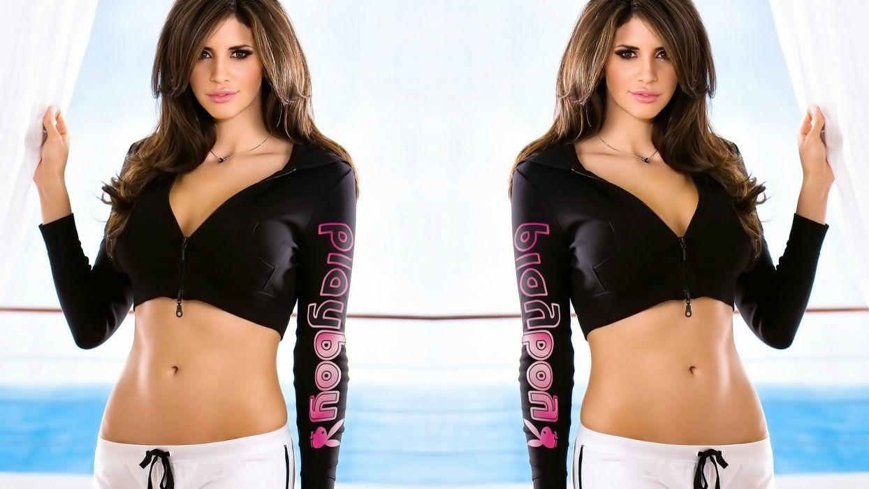 Hope Dworaczyk women model brunette sexy babes adult wallpaper