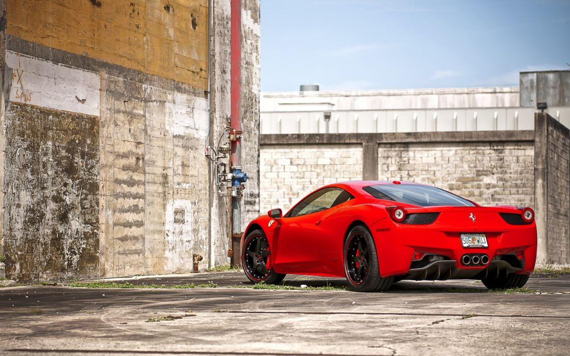 ferrari 458 italia red supercar wallpaper