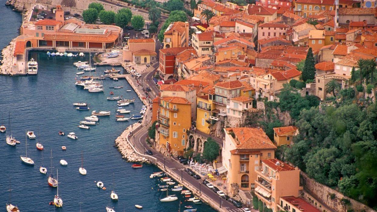 france harbor buildings boats wallpaper