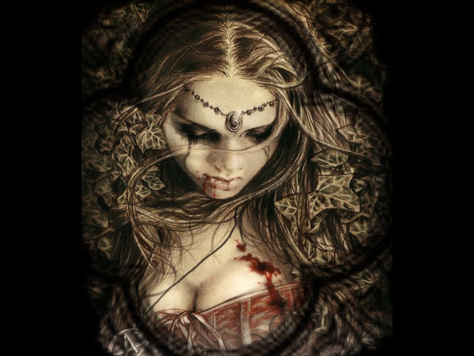 victoria frances dark horror fantasy gothic women vampire blood wallpaper