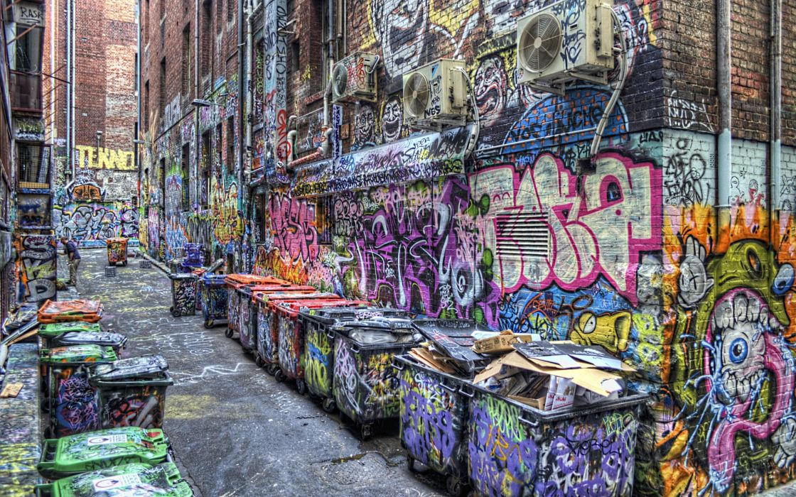 cities buildings urban art graffiti color paint wallpaper
