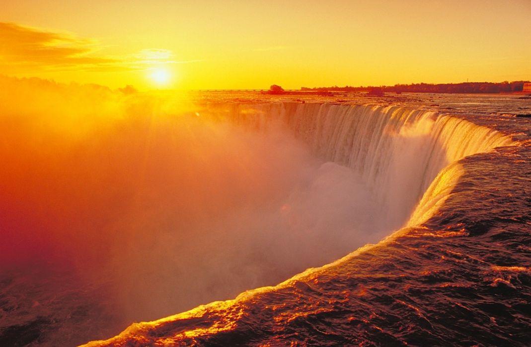 river sky sunset sunrise drops fog mist wallpaper
