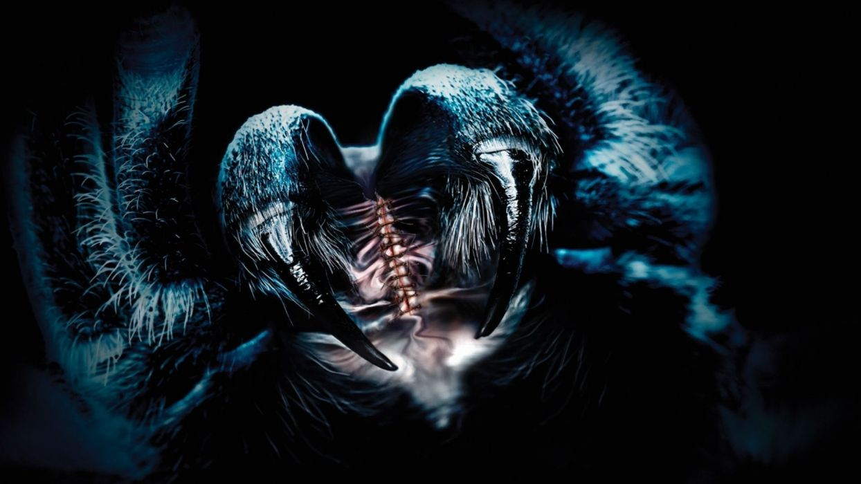 fantasy art digital spider dark horror wallpaper