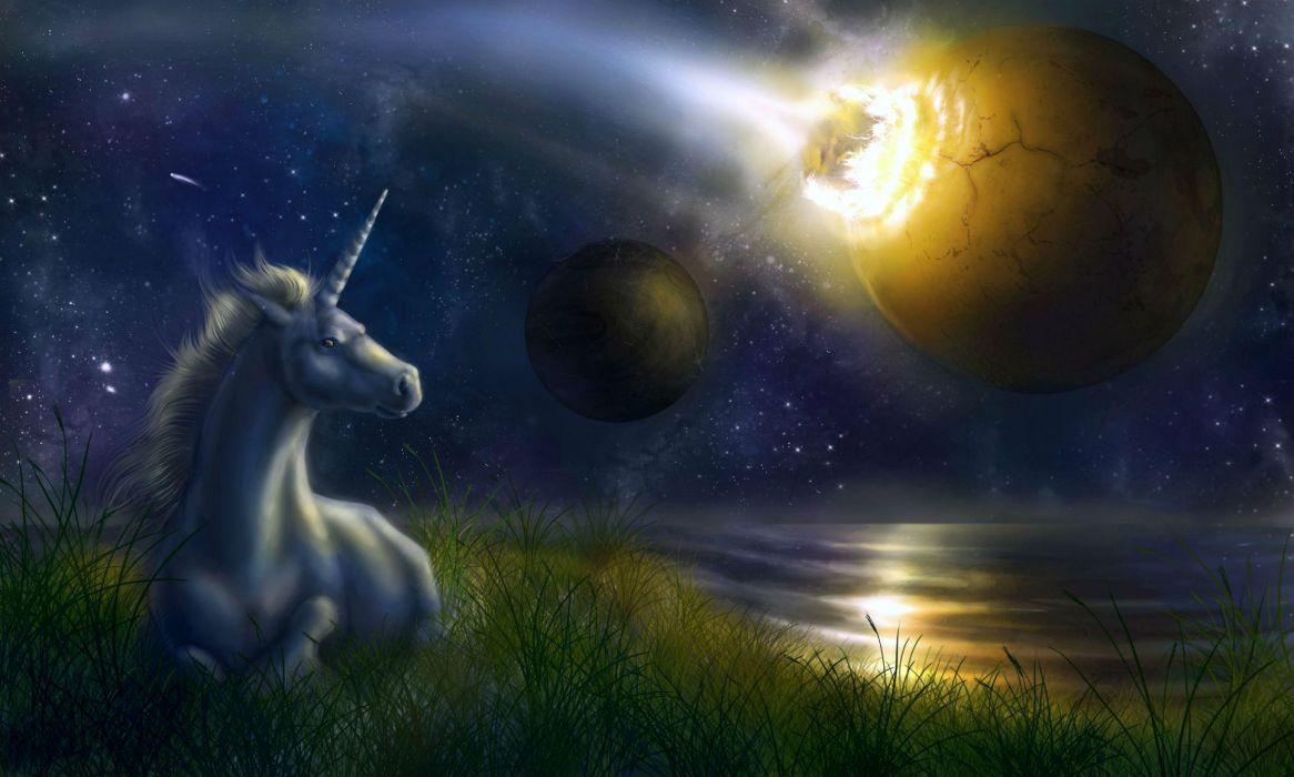 Unicorns fantasy art wallpaper