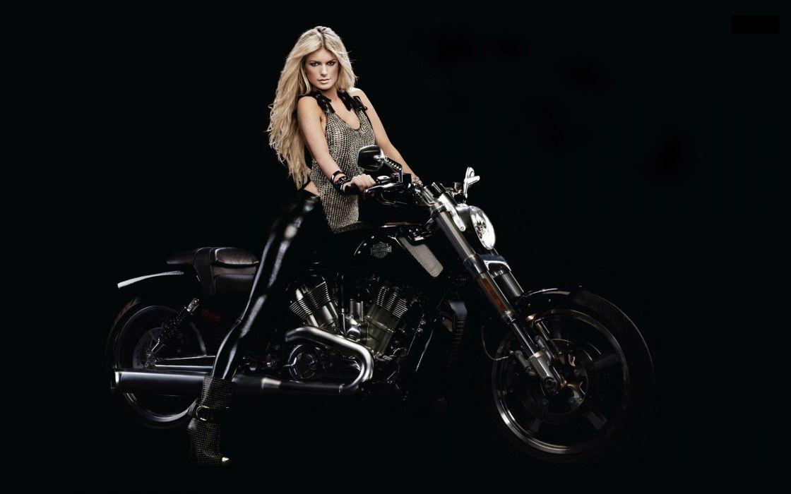 Marisa Miller harley women model celeb blonde sexy babes wallpaper