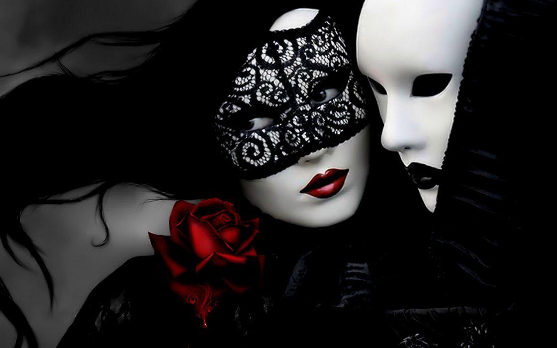 gothic glamor mask art lace mood wallpaper
