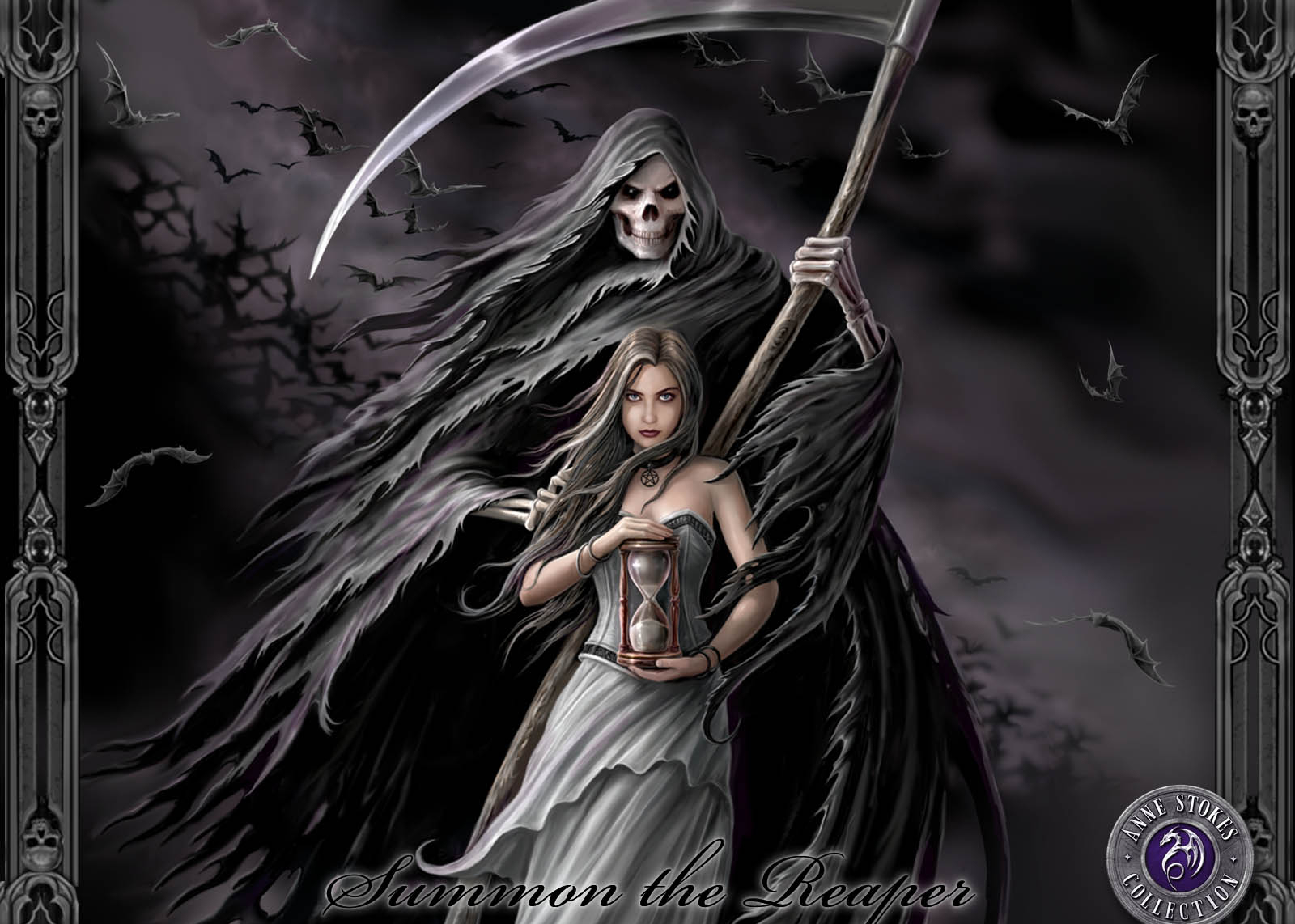 Woman grim reaper tattoos