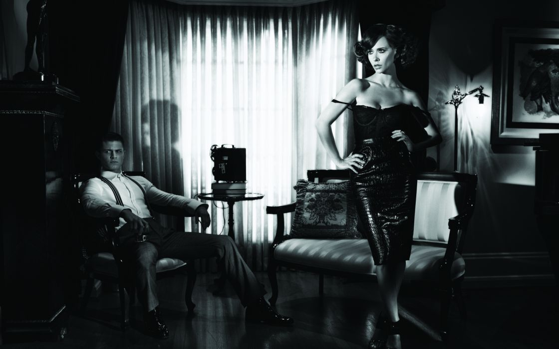 Jennifer Love Hewitt actress celeb black retro women model fashion sexy babes wallpaper