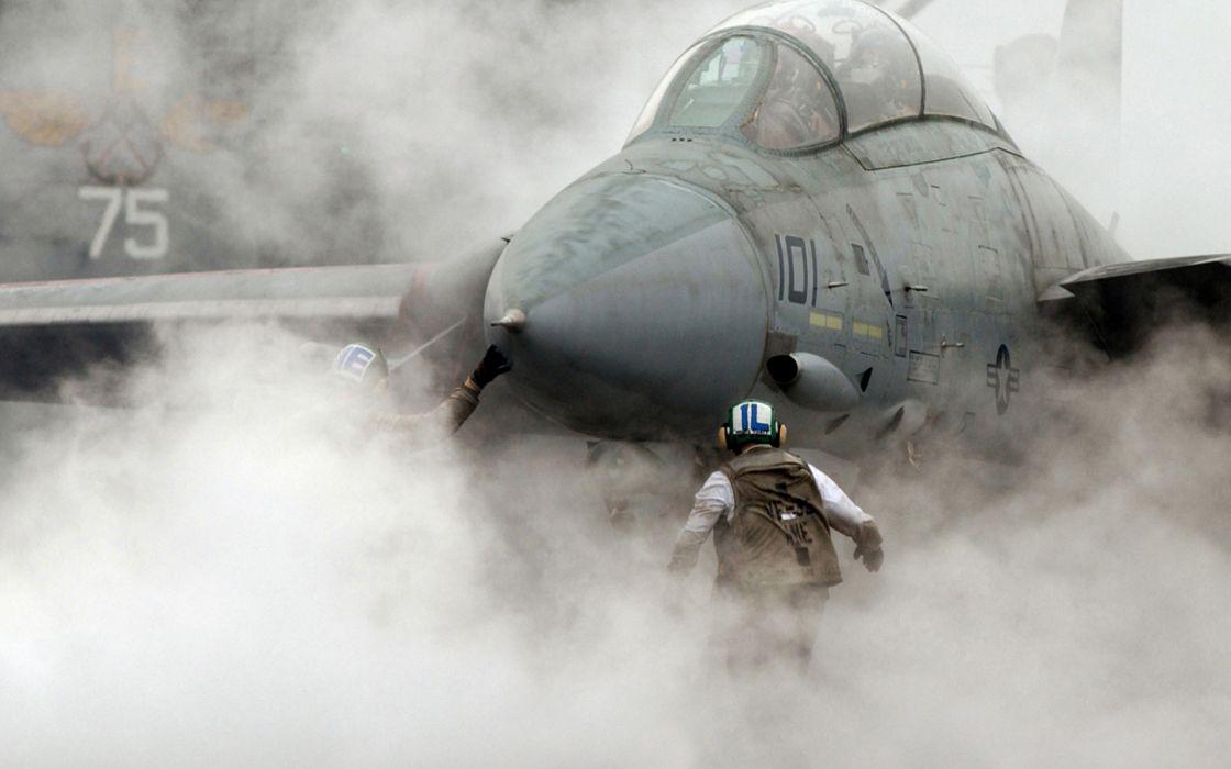 military jet fighter carrier steam wallpaper