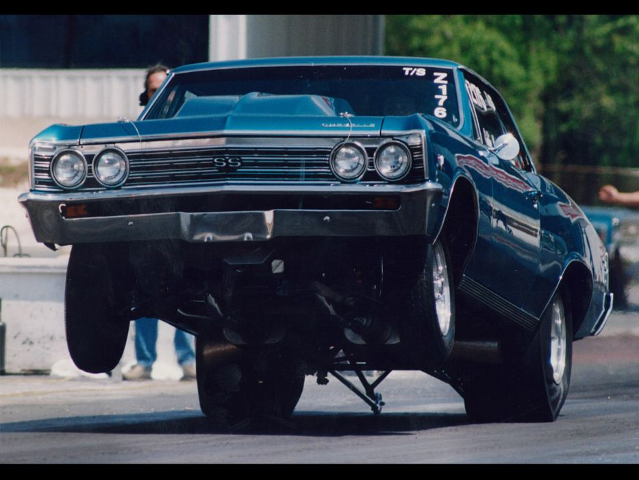 drag racing hot rod muscle cars chevrolet chevelle track racing whellie wallpaper