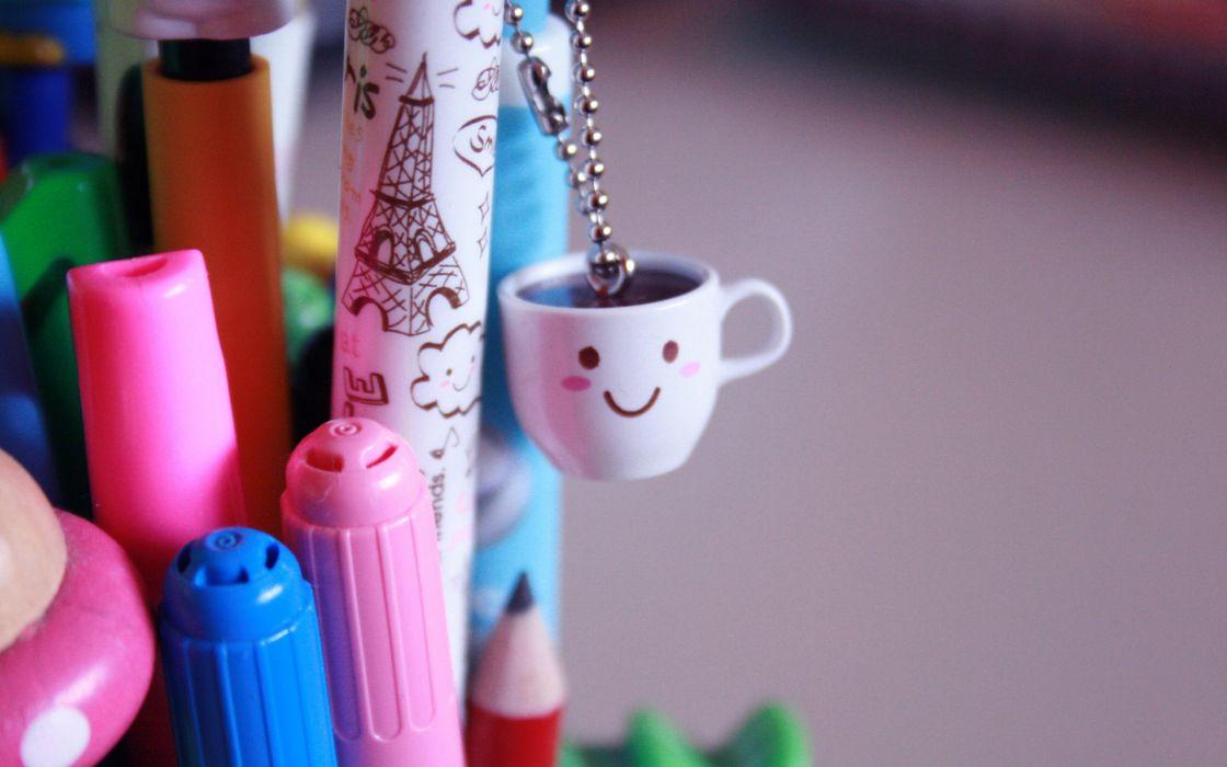 bokeh mood happy coffee macro photography color smiley wallpaper