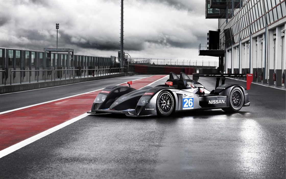 Signatech Nissan Lmp2 Racing Race Cars Track Wallpaper