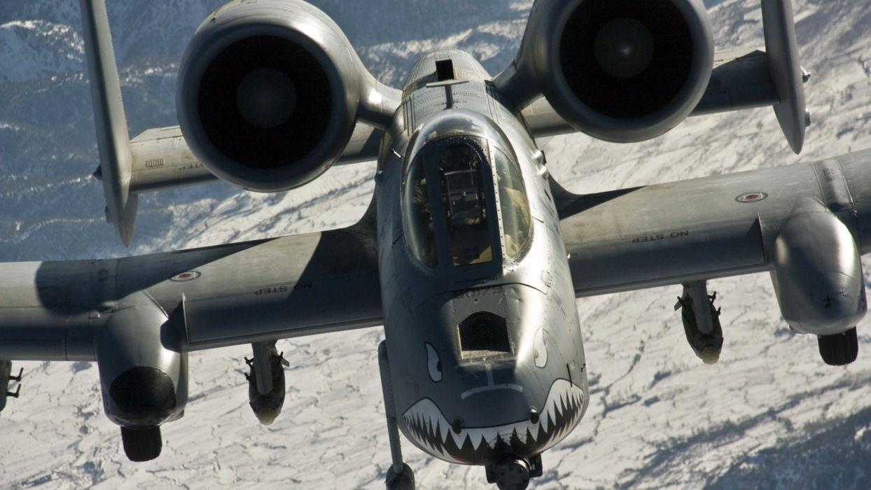 A 10 Thunderbolt military weapon warrior pilot soldier guns death wallpaper