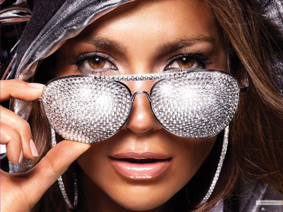 Jennifer Lopez singer musician actress celeb women brunette glamor face glasses music wallpaper