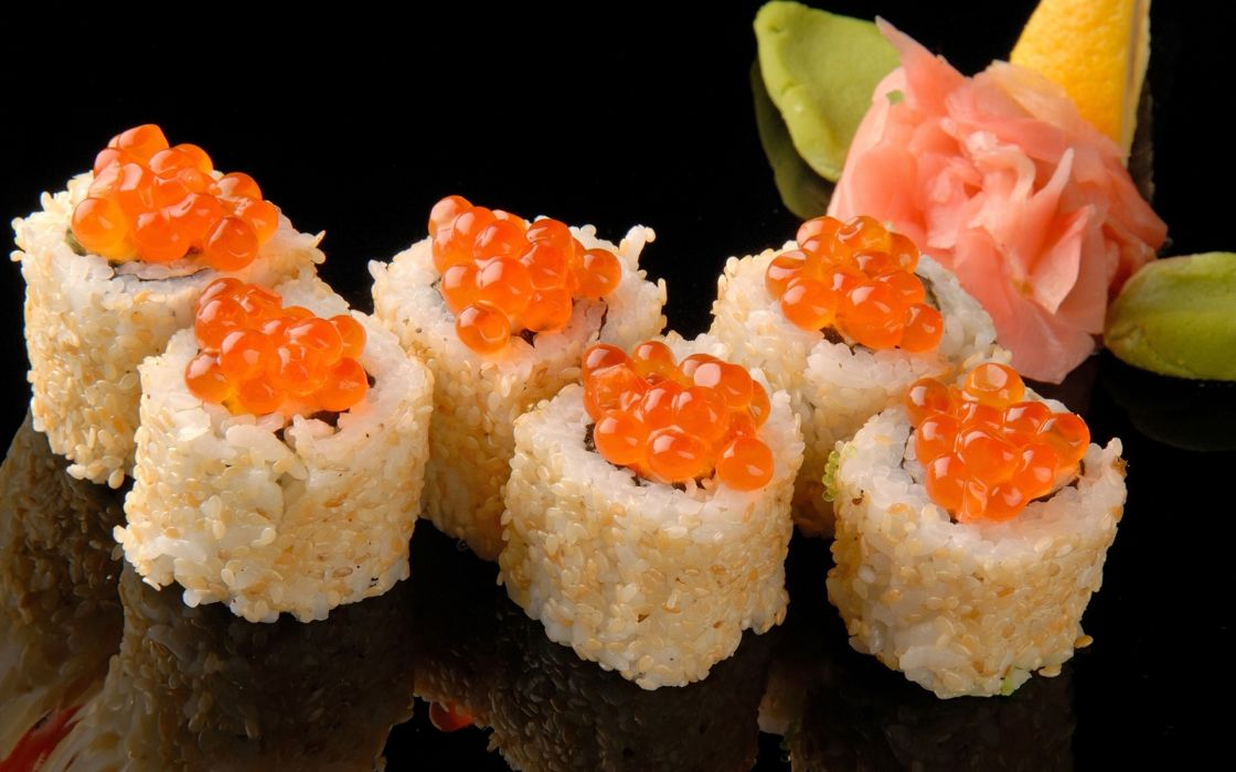 sushi asian oriental wallpaper