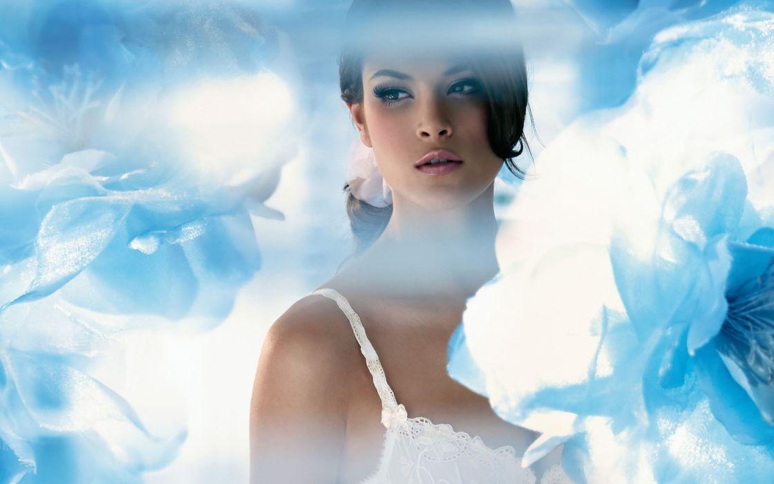 Jenna Pietersen women model fashion brunette sexy babes soft face wallpaper