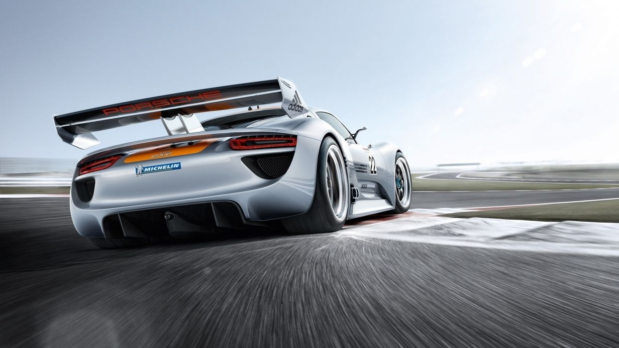 white cars vehicles racing porsche 918 modified 1920x1080 racing track race wallpaper