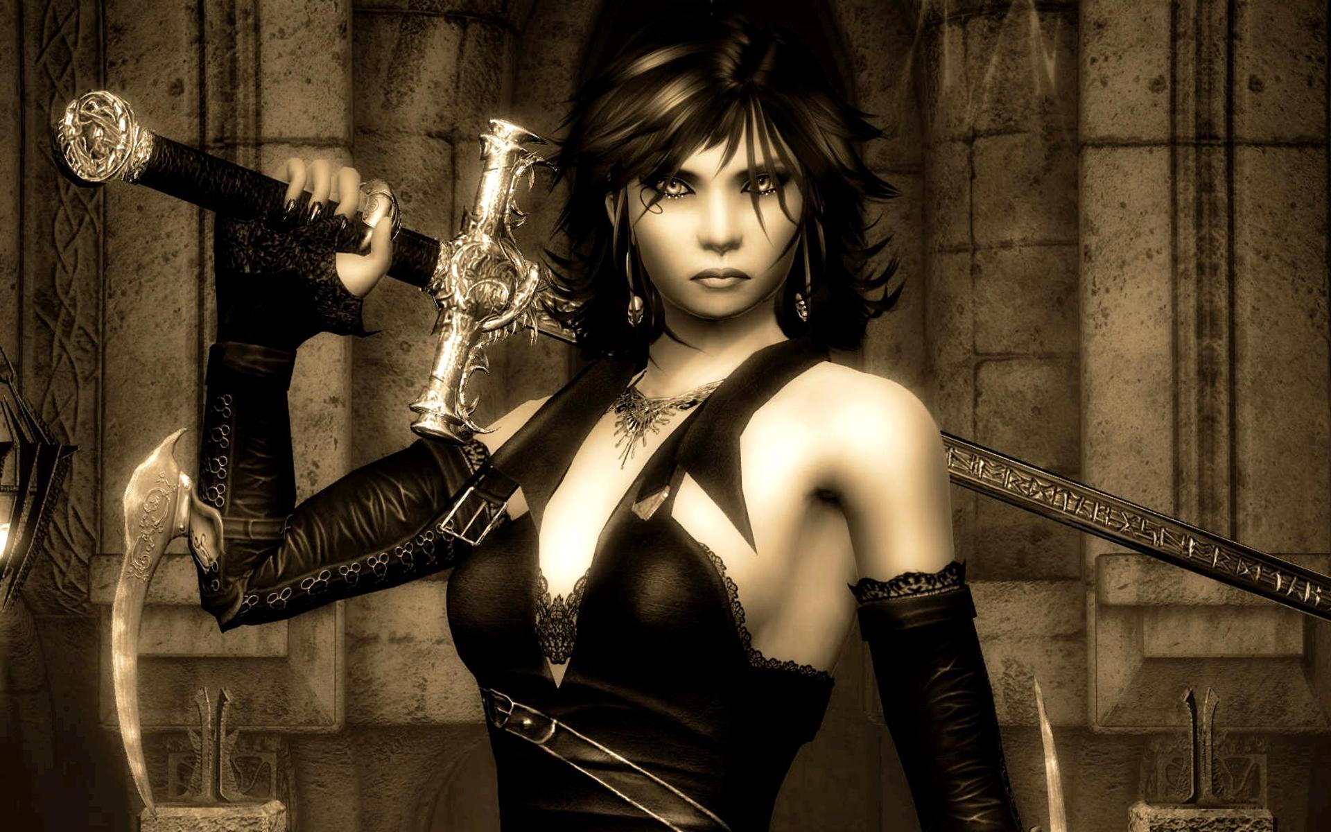 Gothic warrior women softcore comics