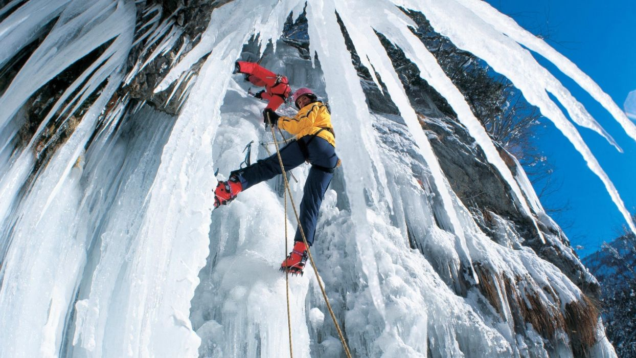 climb ice extreme people mountains wallpaper