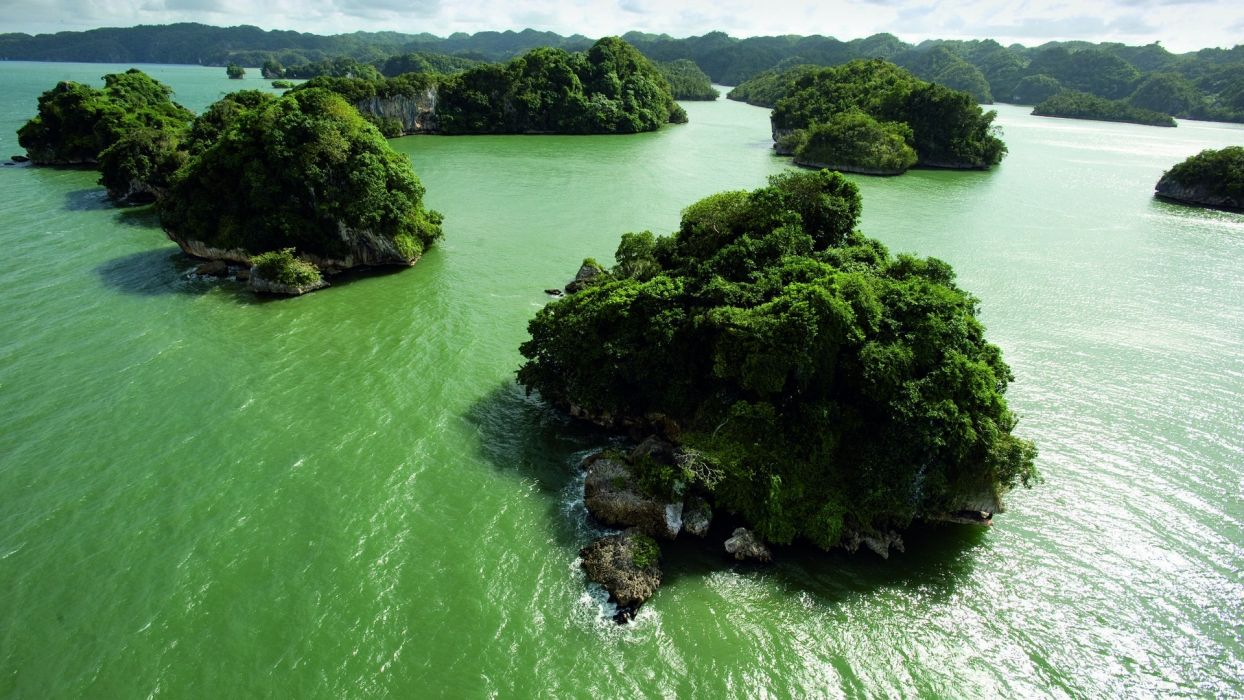 landscapes islands water rivers lakes wallpaper