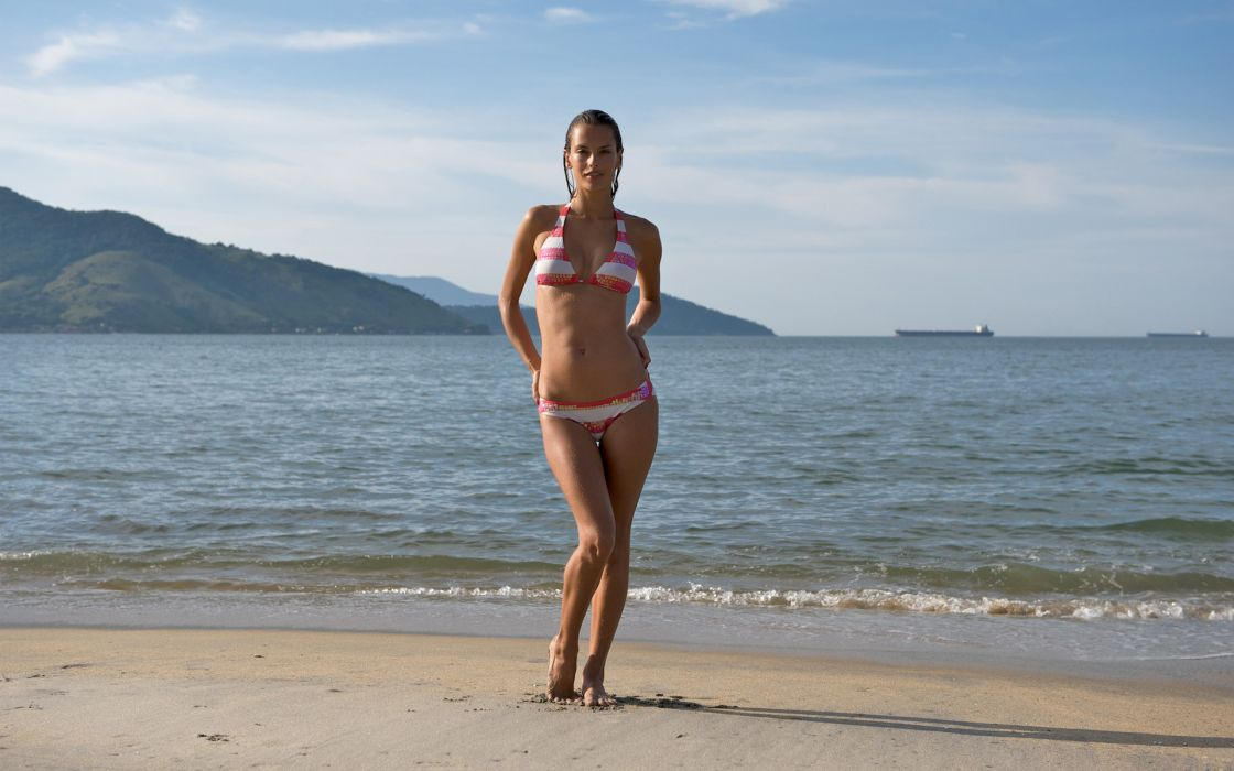 Alessandra Ambrosio model women brunette fashion sexy babes beaches wallpaper