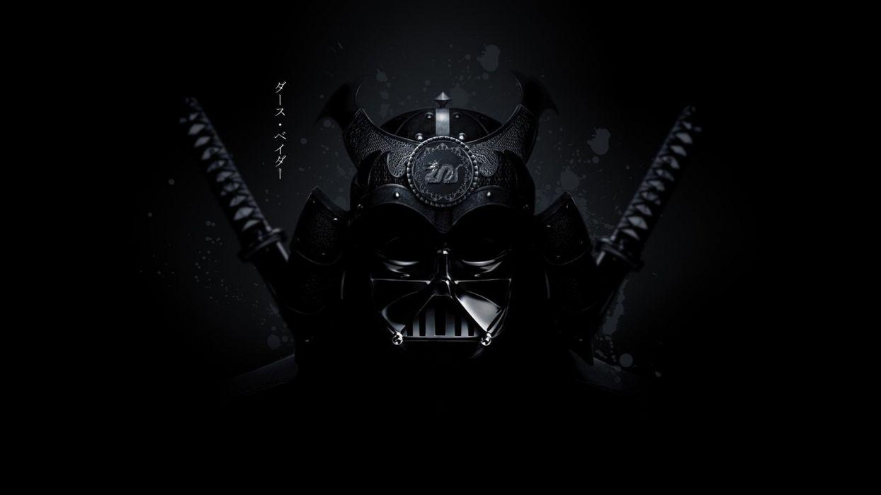 samurai star wars Darth vader render mask sci fi weapons katana sword wallpaper