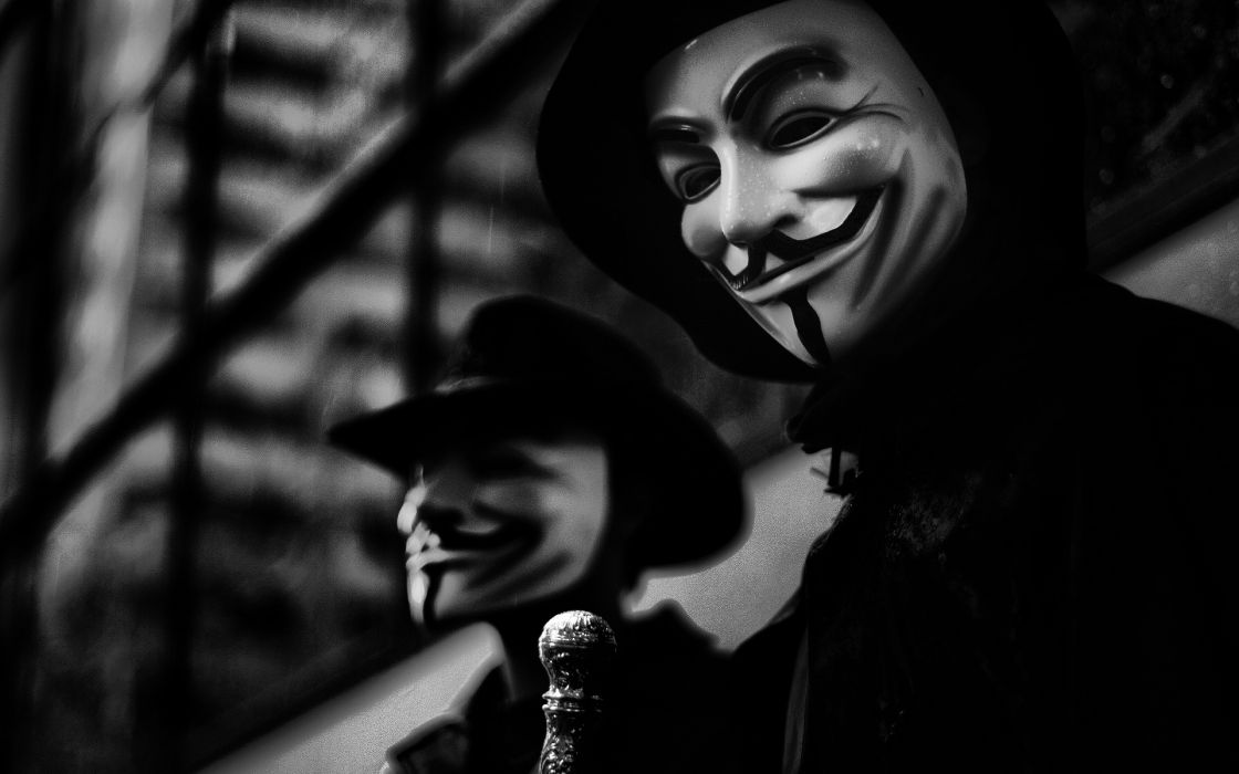 Anonymous dark horror anarchy mask movie v wallpaper