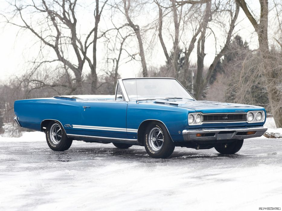 Plymouth GTX Convertible 1968 muscle cars classic wallpaper