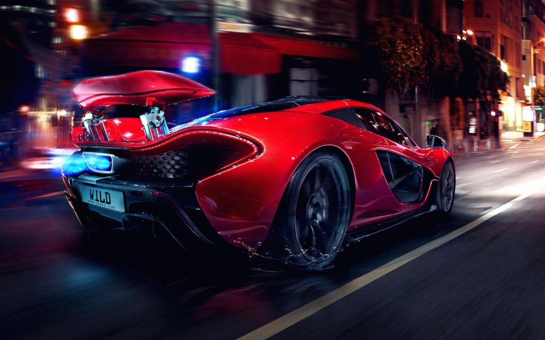 Mclaren 1920x1200 night lights concept art glow supercars tuning motion red cars sports cars spoiler muscle car mclaren wallpaper