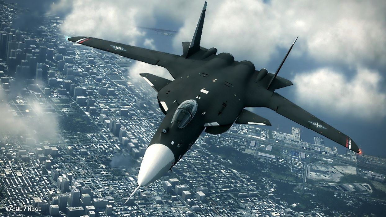 military jet fighter bomber cities landscapes weapon wallpaper