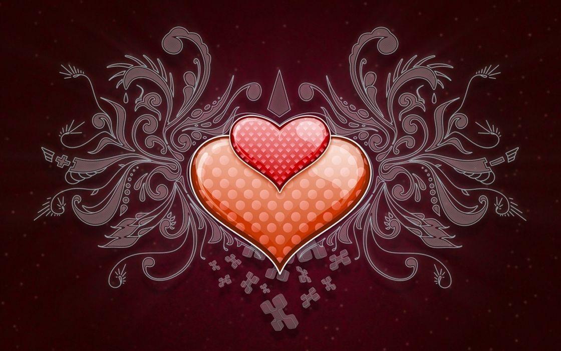 vector heart love romance gothic wallpaper