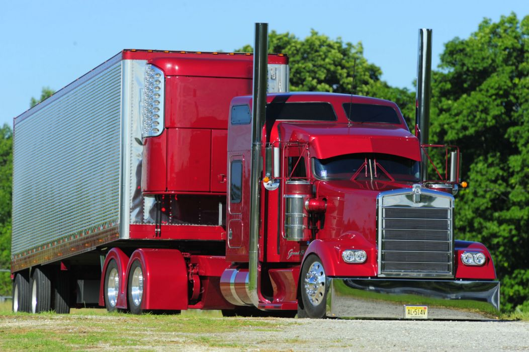 Kenworth candy semi tractor tuning wallpaper