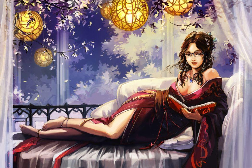 fantasy cg asian oriental woemn girl sexy babes anime wallpaper